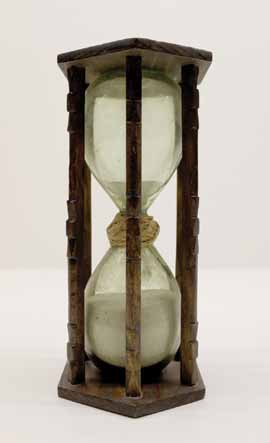 A sand clock, or hourglass