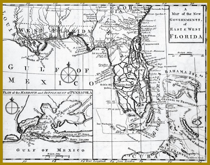 Map from 1763, State Archives of Florida, Florida Memory
