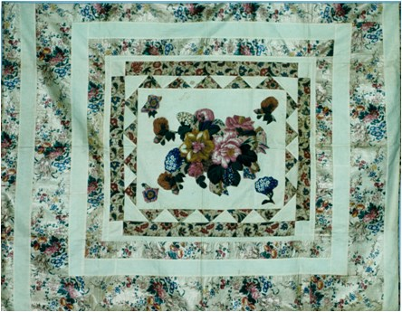 Appliquéd Chintz Quilt Top